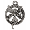 Pendant Fairy In Circle Pewter